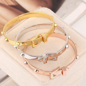 Michael Kors Studded Belt Buckle Bracelet